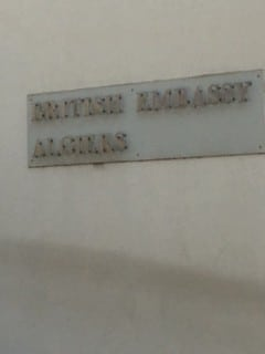 British Embassy Algiers Sign